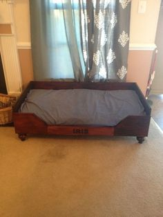 Dog bed! Mattress is a baby crib mattress. Holds at least a German Shepard!!