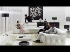 Modern black and white living room interiors – stylish design ideas Black And White Living Room, Black And White Interior, White Interior Design, Black White, Large Black, White Room Decor, Bedroom Decor, Chill, Art Deco