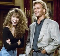Mariah Carey & Patrick Swayze This makes me so happy, being that im such a big fan of Mariah and a big fan of Patrick.  RIPPatrick