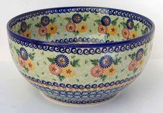 Serving bowl - Unikat polish pottery.  I love the floral designs.
