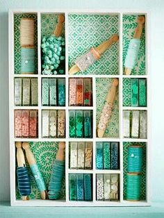 Use old TicTac containers to organize craft supplies (like beads, etc)...store in a wall-mounted drawer divider!!!