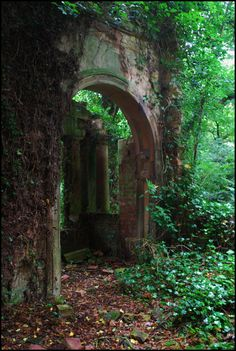 Medieval Portal, Lincolnshire, England- an old entrance to a secret garden, Abandoned Buildings, Abandoned Places, Abandoned Castles, Haunted Places, Abandoned Mansions, Belle Photo, Porches, Beautiful Places, Beautiful Forest