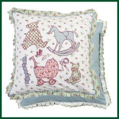 Aufwändige Kissenhülle KINDER Kissen Rüschen Teddy Wohntextilien Kissen und Kissenhüllen Kissenhüllen