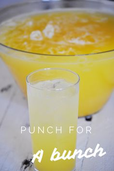 Punch recipe for a large crowd or party