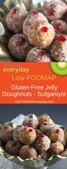 Jelly Doughnuts (Sufganiyot) for Hanukkah - or anytime you want a gluten-free jelly-doughnut!