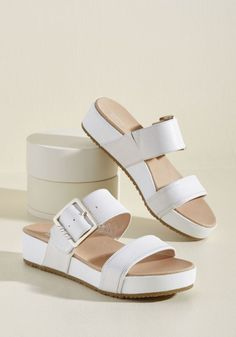 8f54c65739f9d On My Buckle List Sandal in Ivory in 9 - Flat - 0-1 by