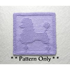 POODLE Dishcloth Knitting Pattern by Aunt Susan's Closet Dishcloth Knitting Patterns, Knit Dishcloth, Knitting Stitches, Knit Patterns, Clothing Patterns, Hand Knitting, Knitted Washcloths, Crochet Motifs, Dog Pattern