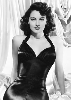 Ava Gardner, 1945 To See more Black VIntage Dresses visit our Pinterest Board http://www.pinterest.com/stillblondeaaty/black-vintage-dresses/