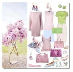 """lilac wardrobe"" by sensual-spirit ❤ liked on Polyvore featuring Gathering Eye, Ippolita, Roger Vivier, Anne Sisteron, Nancy Gonzalez, Giambattista Valli, Majestic, Rochas, Ralph Lauren and Chloé"