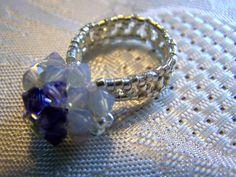 Purple Velvet & Gray Opal Swarovski by lindasoriginaljewels, $20.00  https://www.etsy.com/listing/106352625/purple-velvet-gray-opal-swarovski