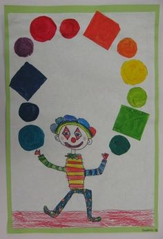 Use a picture of each child and paper shapes in a pattern