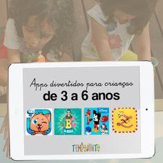Reuni neste post dicas de aplicativos para brincar com as crianças entre 3 e 6 anos. Aproveite e sente junto com seu filho para jogar!