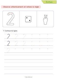 PDF Apprendre à écrire les chiffres de 0 à 9 & le nombre 10, Écriture, pour apprendre à écrire les chiffres dès la maternelle. Écriture des chiffres MS, GS, CP.
