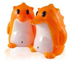 """Orange Creamsicle"" sofubi Heathrow figures from Frank Kozik!"
