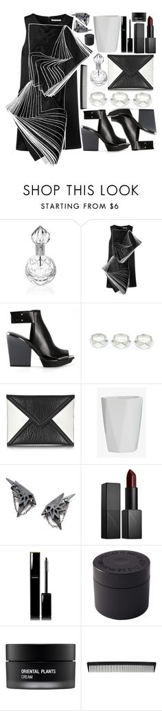 """Tasha"" by living-colorfully ❤ liked on Polyvore featuring Mario Cioni, Christopher Kane, 3.1 Phillip Lim, McQ by Alexander McQueen, Zarah Voigt, NARS Cosmetics, Chanel, Frédéric Malle, Koh Gen Do and T3"