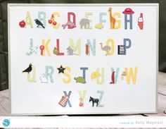 Alphabet Magnets by Kelly Wayment for Silhouette