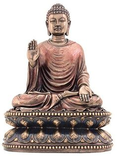 This gorgeous 9 Inch Cold Cast Bronze Finish Regal Shakyamuni Buddha Statue has the finest details and highest quality you will find anywhere! Dimensions: H: 9 x W: (Inches) Crafted with: Cold-Cast Resin/Bronze Finish Gift Boxed Buddha Wall Art, Buddha Zen, Meditation Supplies, Buddha Home Decor, Spiritual Decor, Peaceful Home, Christian Wall Art, Collectible Figurines, Bronze Sculpture
