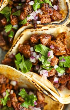 Mexican Street Tacos. Easy, quick, authentic carne asada street tacos you can now make right at home! Top with onion, cilantro + fresh lime juice! SO GOOD!  #foodrecipes #easyrecipes #simplerecipes #quickrecipes #cheaprecipes #goodrecipes #bestrecipes #latestrecipes #newrecipes #recipesideas #simplefoodrecipes #cookingrecipes
