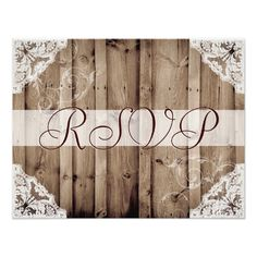 Lace Wedding Invitation Antique White Lace Wedding RSVP Card