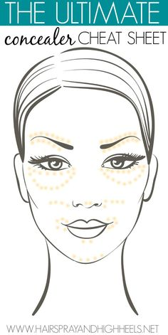 Ah ha! An easy diagram that shows you where to apply concealer!