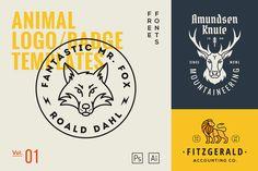 Animal Logo/Badge Templates Vol.1 @creativework247