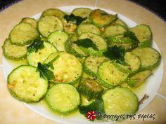 Κολοκύθια με σκόρδο και ρίγανη #sintagespareas Zucchini, Vegetables, Food, Essen, Vegetable Recipes, Meals, Yemek, Veggies, Eten