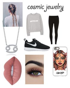 """Zodiac sign ♋️"" by emi-loo-boo13 ❤ liked on Polyvore featuring Casetify, BERRICLE, MANGO, Dorothy Perkins, NIKE and Lime Crime"