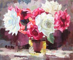 Красное и белое (Картина),  60x50x2 cm - Igor Pautov