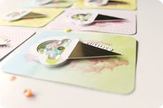 {pocket scrapbooking} summer shaker card | sequins by carrie elias, via Flickr