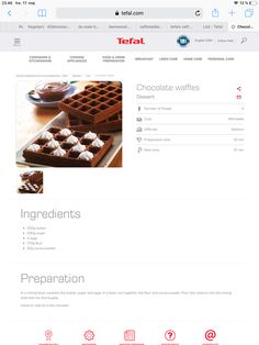 Chocolate Waffles, No Cook Meals, Kitchenware, Breakfast Recipes, Snacks, Cooking, Desserts, Collection, Food