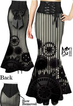 Laced bow Bustle Skirt