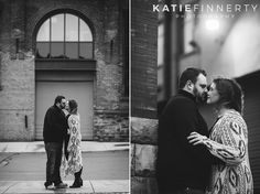 Rochester Winter Engagement Session Photography at High Falls | https://www.katiefinnertyphotography.com/blog/2017.2.6.mendon-ponds-park-rochester-engagement-session-stephanie-brett