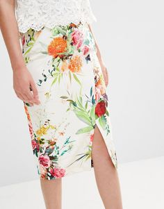 Image 3 of Oasis Floral Pencil Skirt