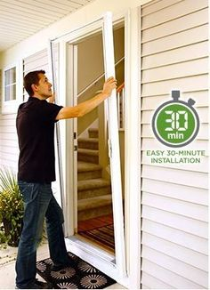 Retractable Screens For Your Door To Keep The Bugs Out And