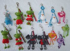 Keychains? Can't tell as the page is not in English. But very cute!