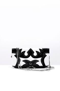 Zadig & Voltaire rock nash black white women bag