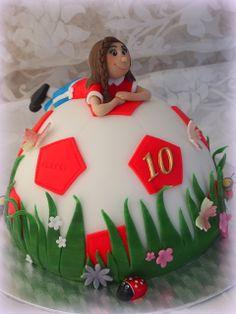 Soccer cake girl