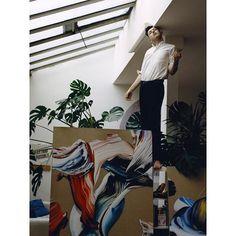 Matthew Stone (@artshaman) featured in Apartamento Magazine issue 15. Photograph by @brett_lloyd interview by @deankissick #matthewstone #apartamentomagazine