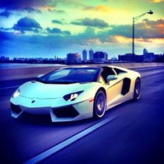 Afternoon stroll in the Aventador Roadster