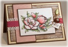 It's reveal day 3 at Flourishes and Danielle Kennedy created this beautiful card using Flourishes brand new Magnolias Stamp Set by Marcella Hawley. Be Sure to check out her Blog for more details.