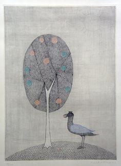 Keiko Minami (1911-2004), Japanese artist, aquatint engraver, and poet