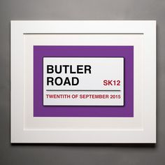 Personalised Street Sign Print | GettingPersonal.co.uk