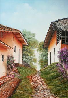 Pintura on pinterest paisajes donna dewberry and pintura - Paisajes de casas de campo ...