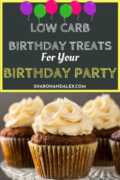 Do you or someone you love have a birthday coming up and you have no idea what low carb options there are for birthday cakes? Check out these delicious low carb birthday treats for some great ideas on how to celebrate in style, low carb style, that is. Sugar Free Desserts, Low Carb Desserts, Healthy Desserts, Low Carb Recipes, Diabetic Desserts, Low Carb Food List, Low Carb Diet, Birthday Desserts, Birthday Cakes