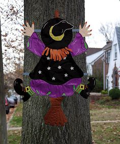 Take a look at this Witch Splat Tree Wrap by Evergreen on #zulily today!