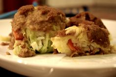 Cabbage rolls filled with rice and cheestnut-wine-creme-topping #vegan