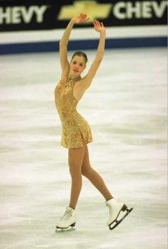 Carolina Kostner  -Gold/Natural-hued Figure Skating / Ice Skating dress inspiration for Sk8 Gr8 Designs.