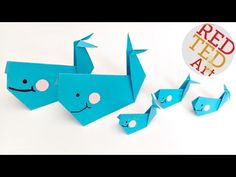 We love easy Origami for kids. This Origami Whale is a perfect first project for kids trying out Origami. Could even be a Finding Dory Bailey whale!!!