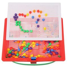 [USD6.50] [EUR5.91] [GBP4.67] 120pcs Children Plastic Puzzle Spile Toy