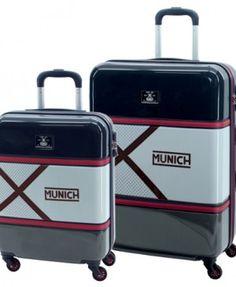 Set 2 Trolleys de 55 y 70CM Munich Retro Set de viaje compuesto por 2 originales y prácticas trolleys (una de ellas apta para cabina) Munich Retro. Están totalmente forradas en su interior, disponen de dos compartimentos separados por cremallera, varios bolsillos y además, traen una bolsa de tela especial para zapatos!!  Con 4 ruedas que giran en 360º y un candado de cierre con combinación en el lateral. #munich #maleta #trolley #munichhombre #maletahombre